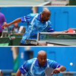 Table tennis action 2